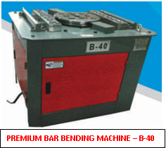 Premium Bar Bending Machine B40