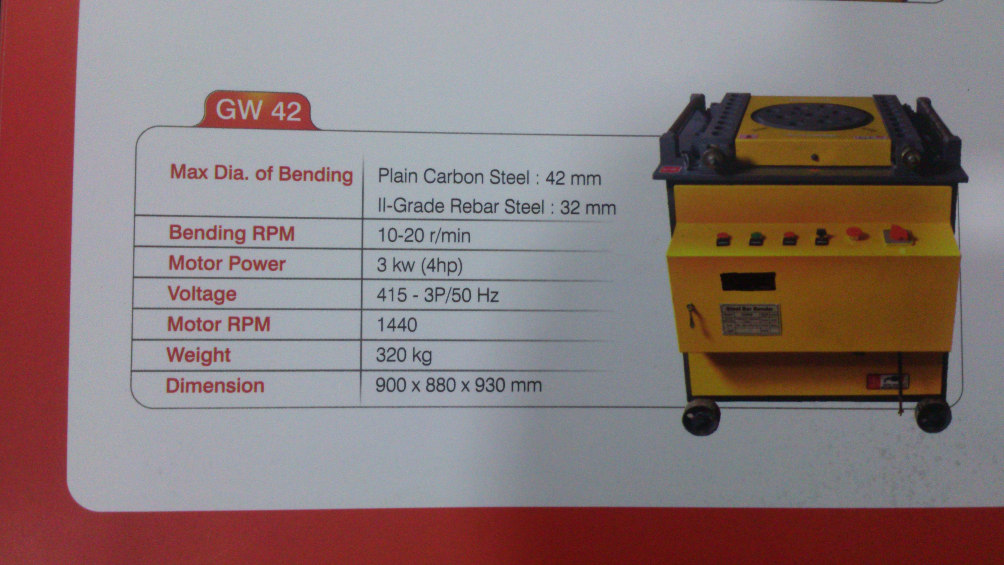 Bar Bending Machine GW42